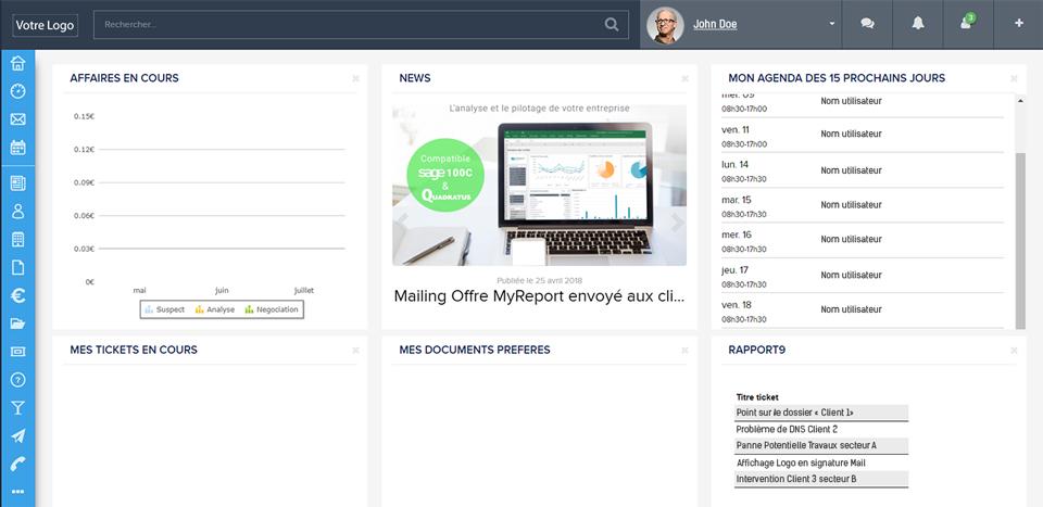 Présentation interface MyPortal